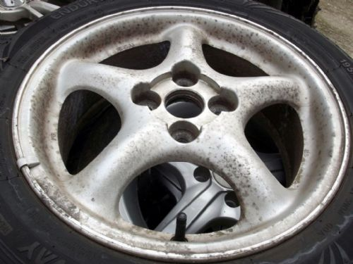 Wheel, alloy, Mazda MX-5 mk2 15x6JJ, 5-spoke, USED